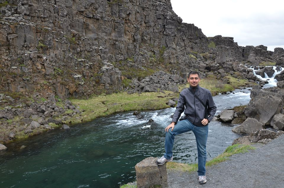 Visiting Iceland a few weeks ago. This is where the tectonic plates drifting away, something I never expected to see.